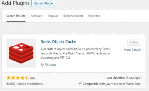 Wordpress Redis Object Cache