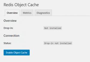 Wordpress Redis Object Cache Settings